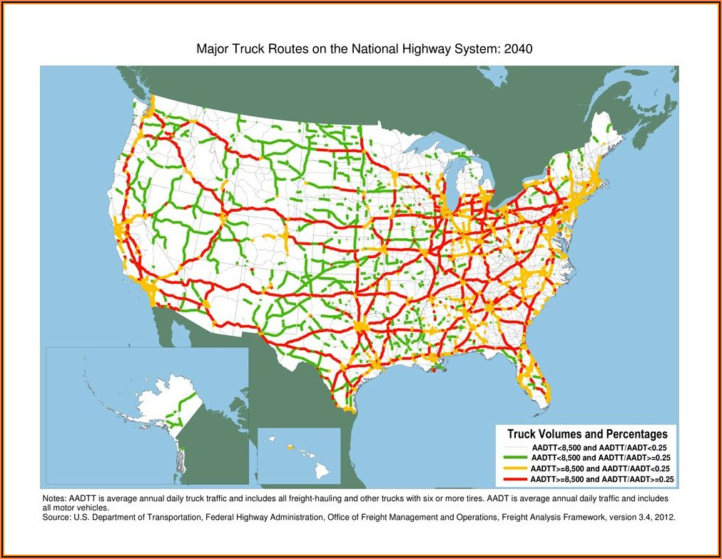 Chicago Truck Routes Map