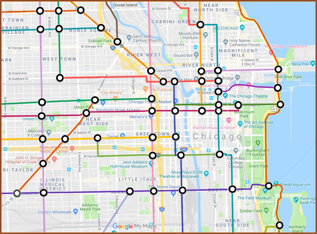 City Of Chicago Truck Route Map