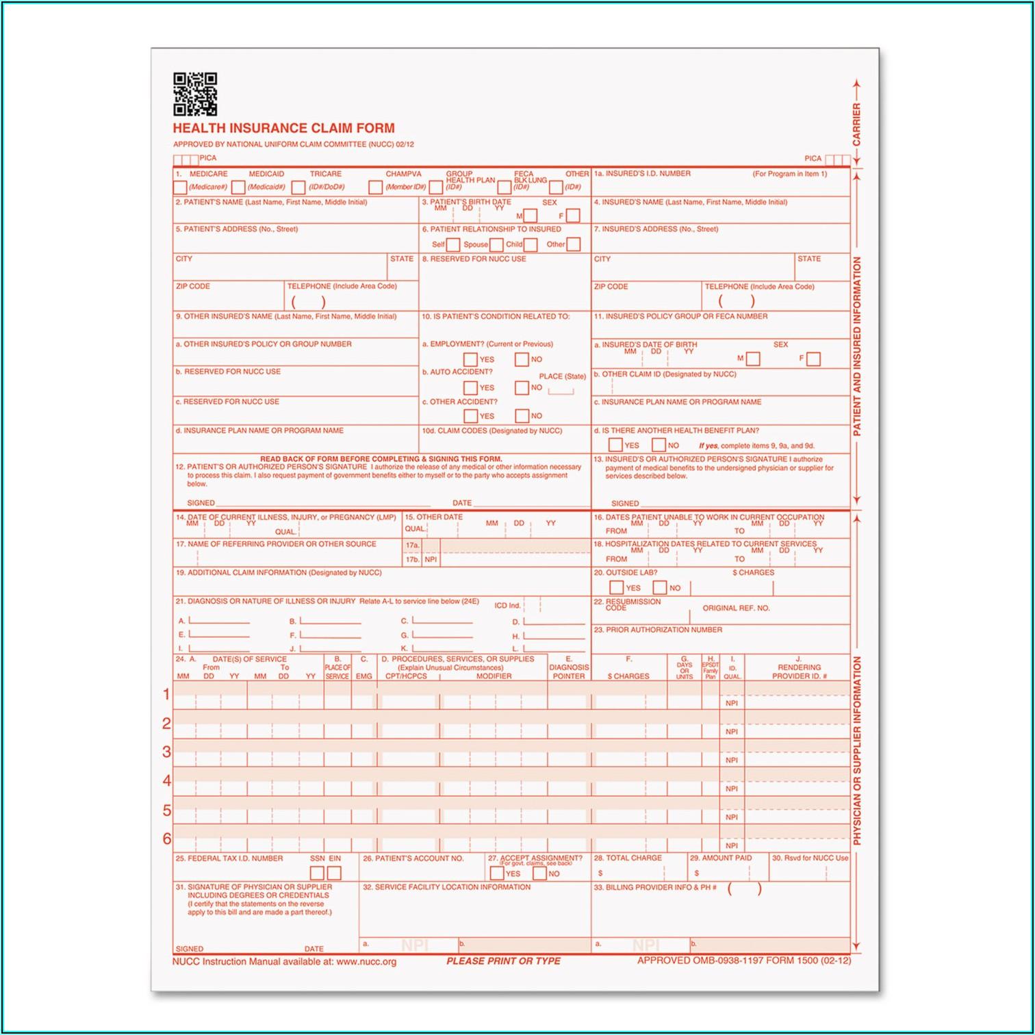 Cms 1500 Medicare Attachment Form