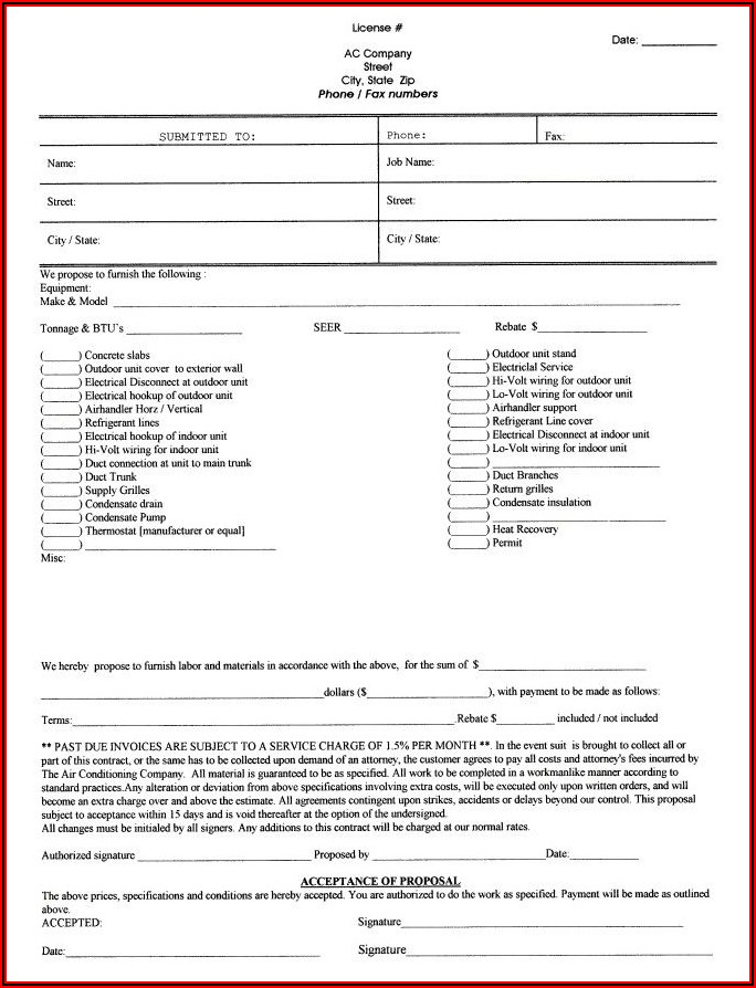 Commercial Electrical Bid Proposal Template