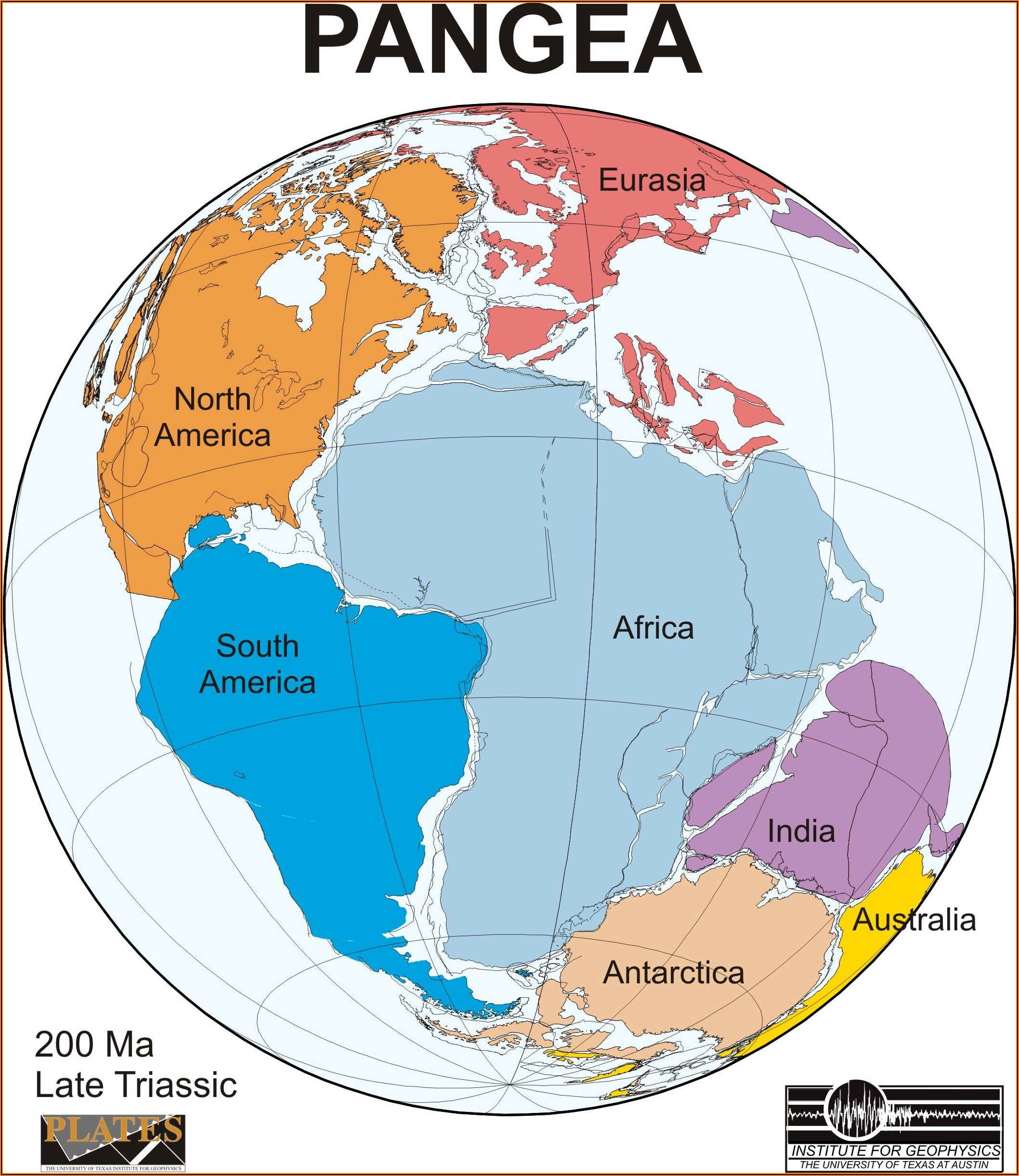 Compare Pangaea With World Map