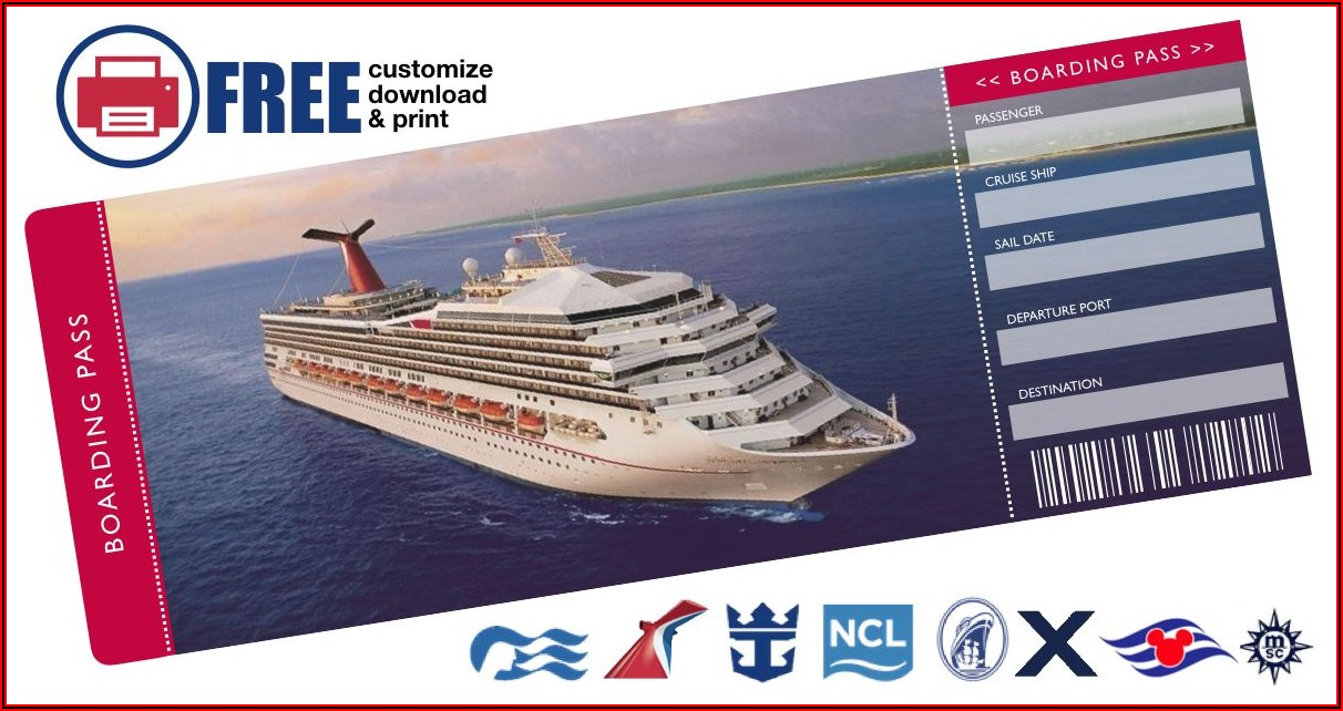 Cruise Ticket Template Free
