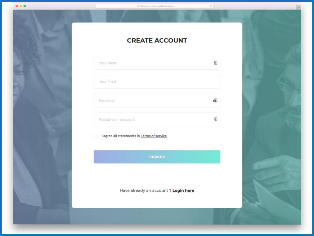 Css Templates For Registration Form Free Download
