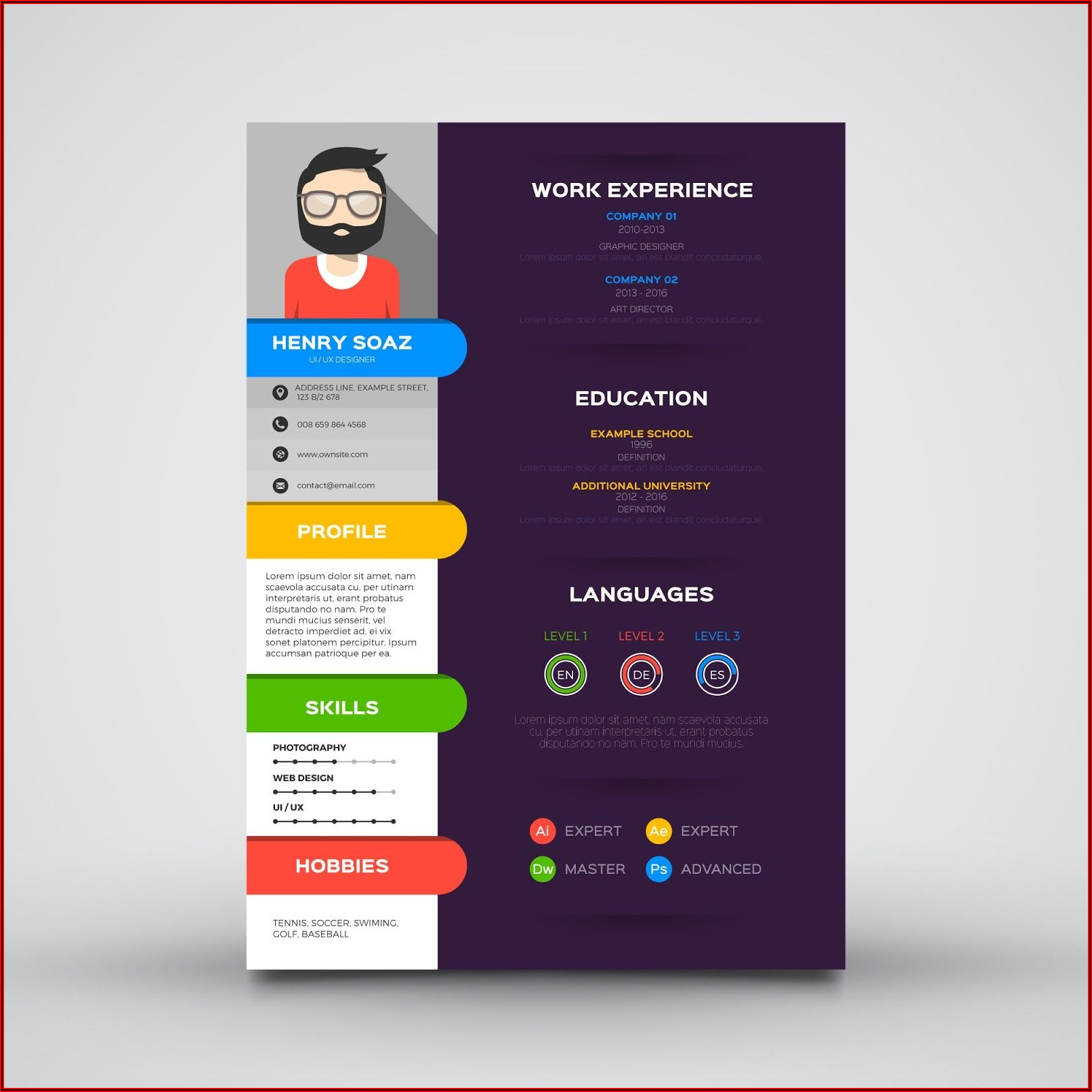 Curriculum Vitae Website Template Free Download