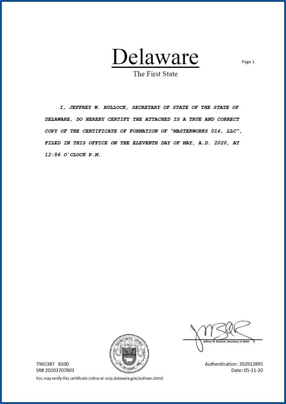 Delaware Secretary Of State Llc Forms