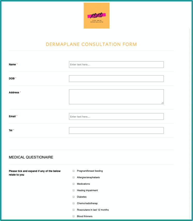 Dermaplaning Consultation Form Pdf