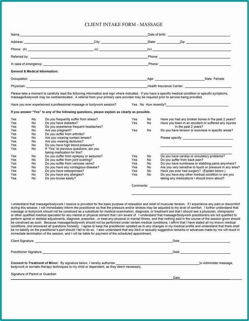 Dermaplaning Consultation Form Template