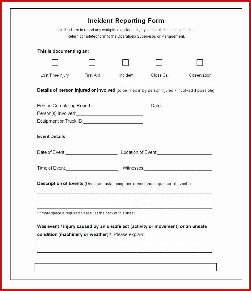 Disaster Recovery Incident Report Template