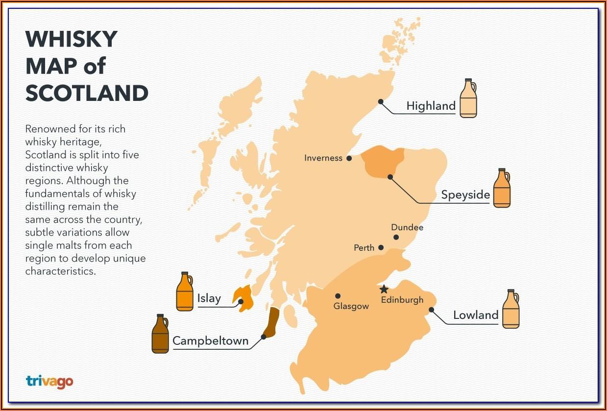 Distillery Map Scotland Highlands