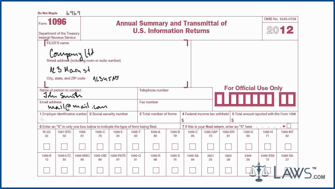 Downloadable Irs Form 1096