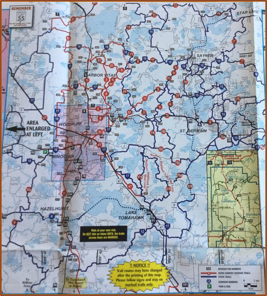 Eagle River Wi Snowmobile Trail Maps