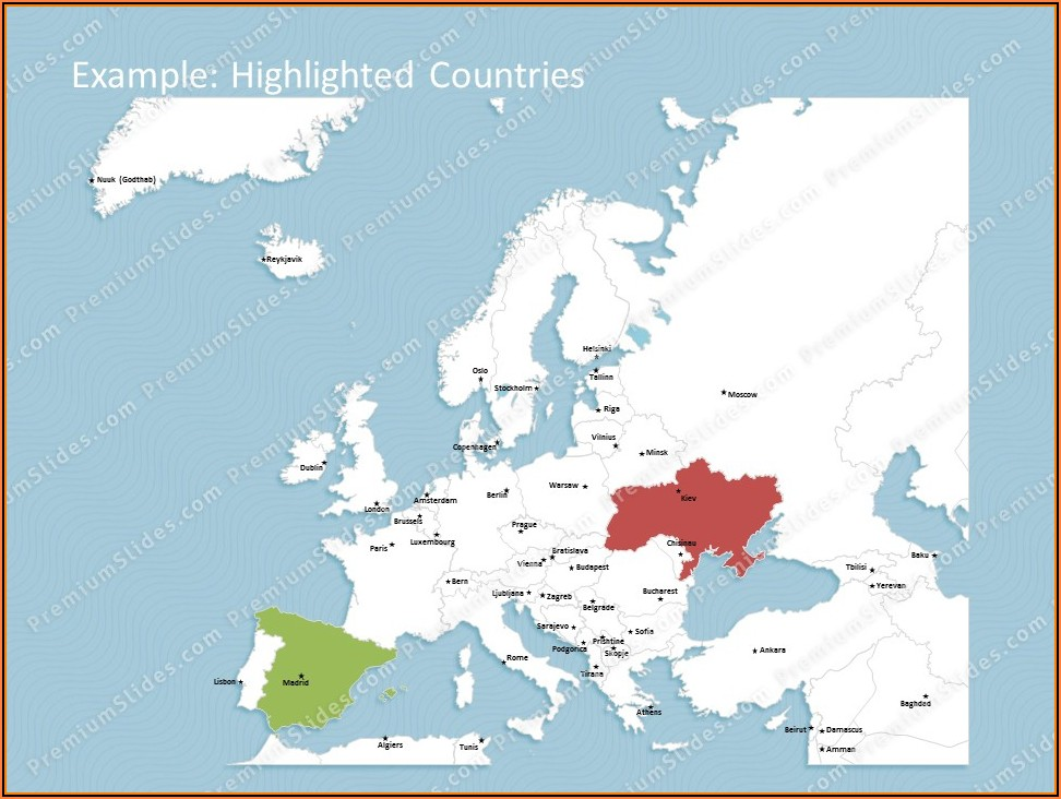 Editable Powerpoint Map Of Europe