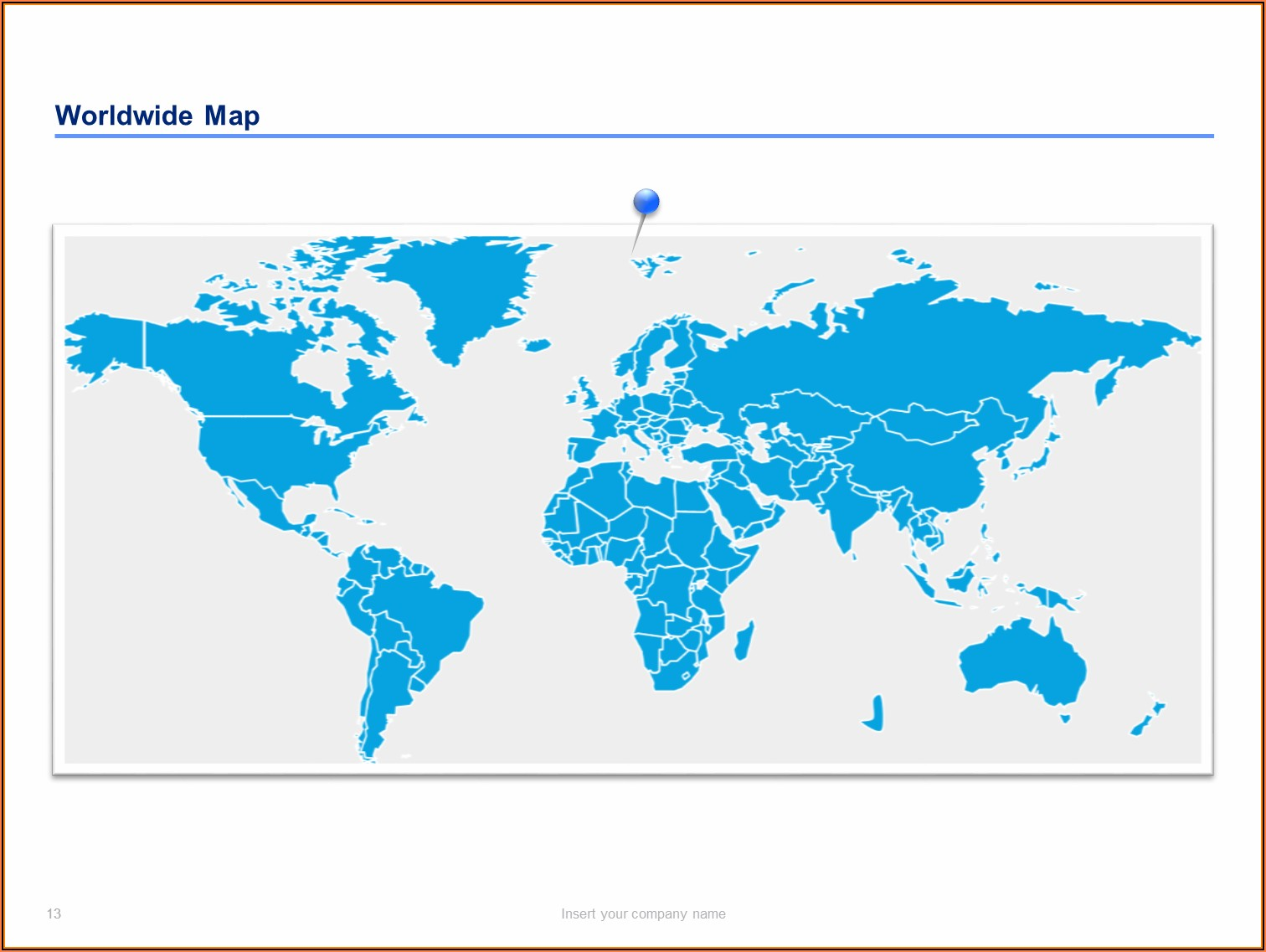 Editable Powerpoint Map