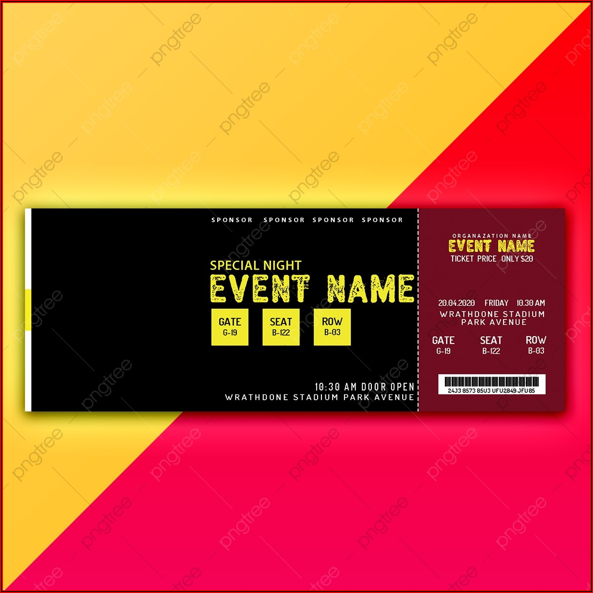 Event Ticket Template Download