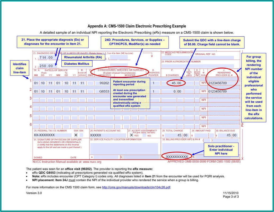 Fillable Cms 1500 Claim Form