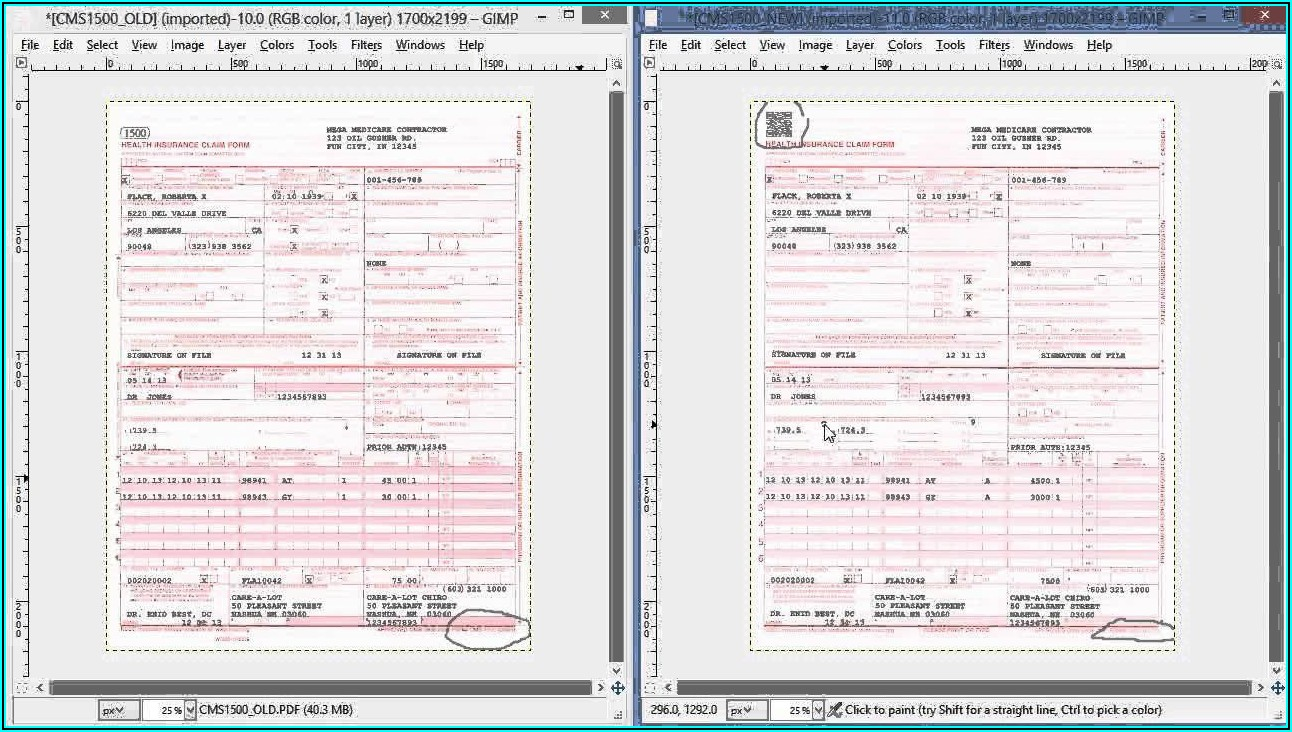 Fillable Cms 1500 Form 0212