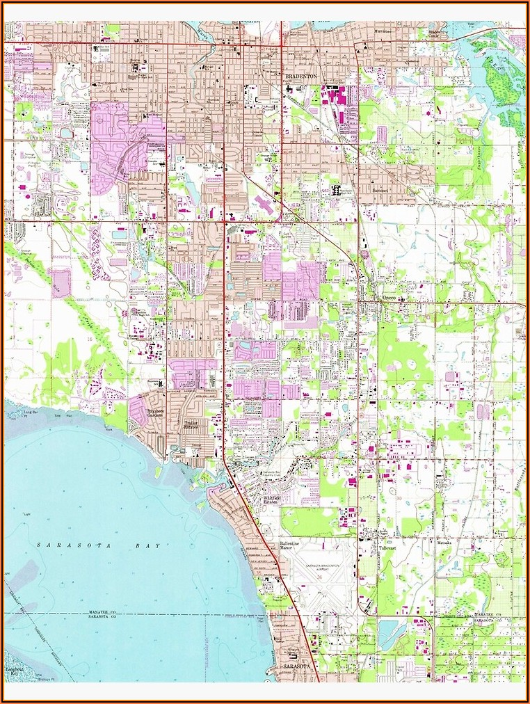 Florida Map Bradenton