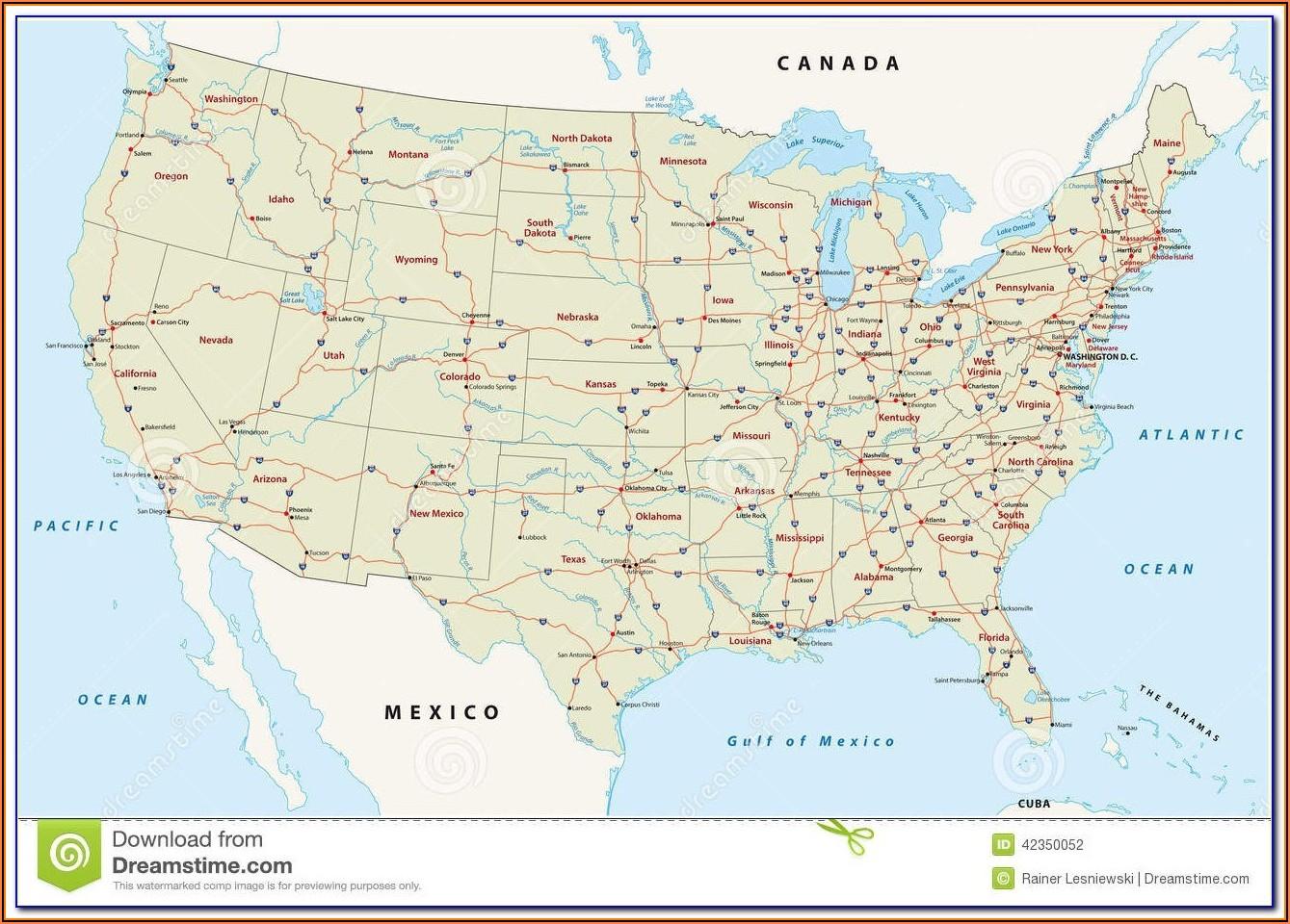Florida Map Showing Bradenton