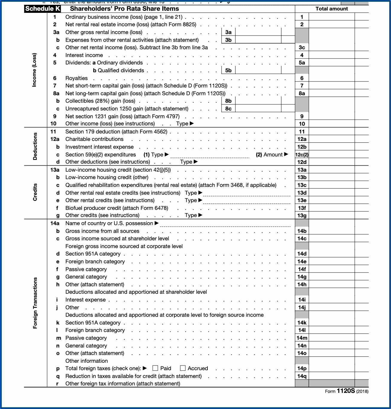 Form 1120s Instructions 2014