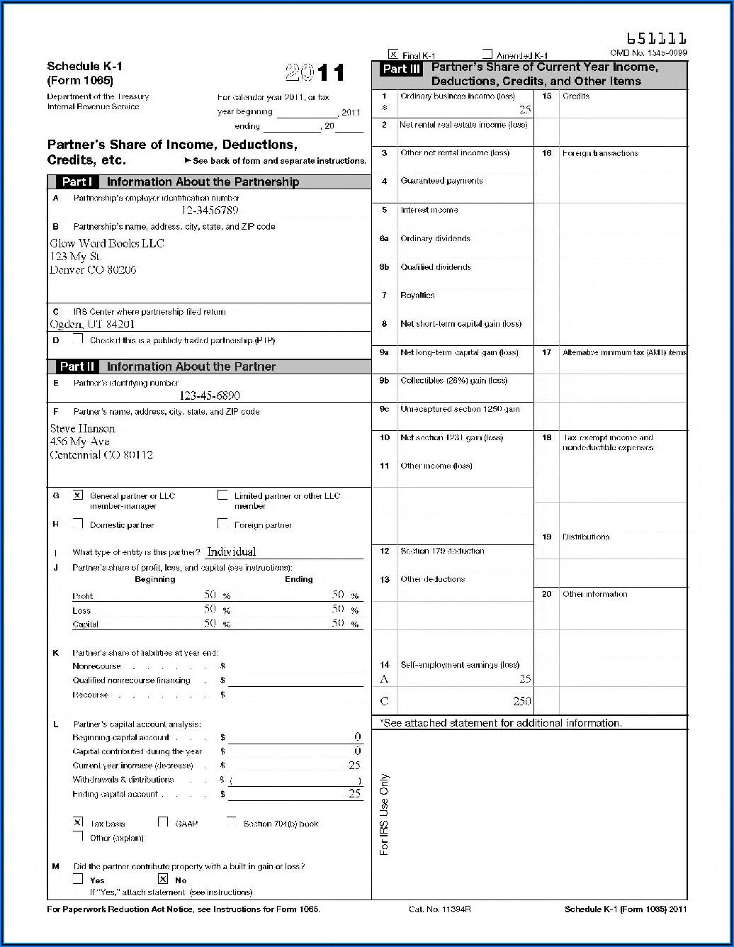 Form 1120s K 1 2014