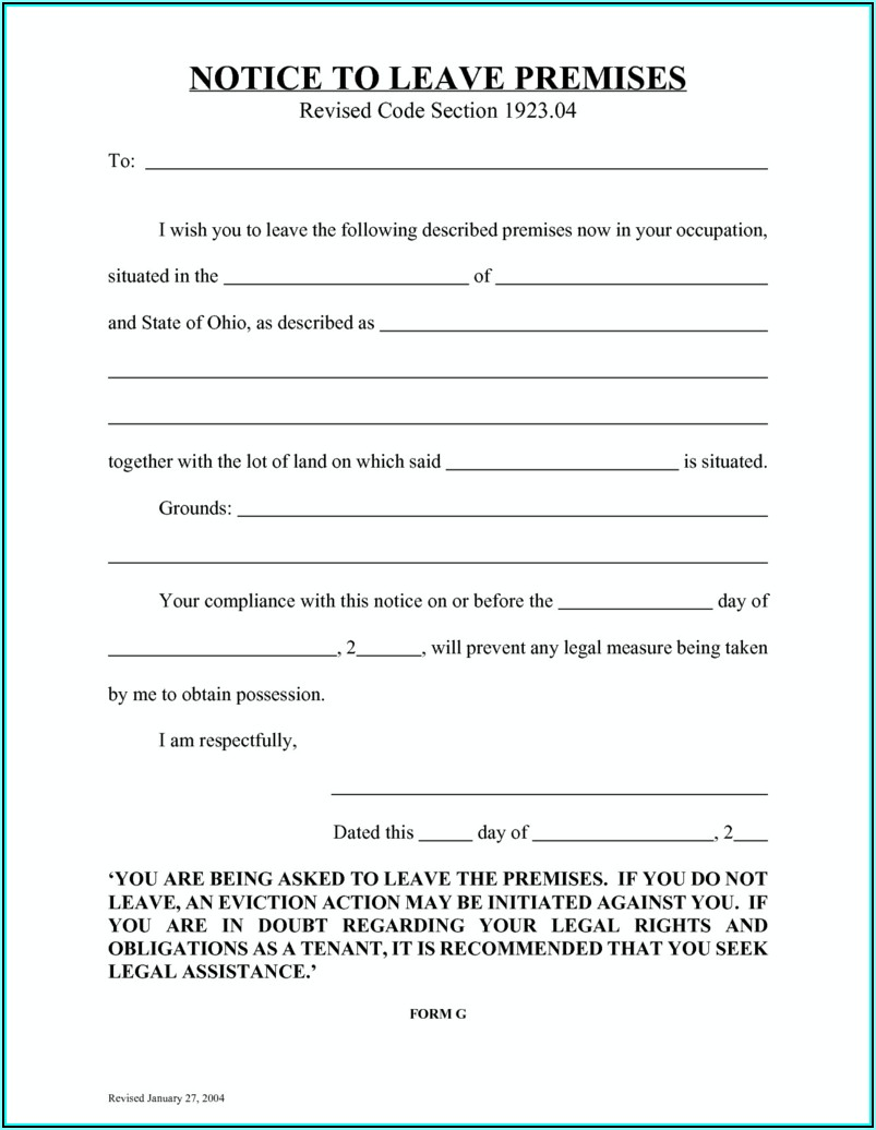 Free 3 Day Eviction Notice Form Texas