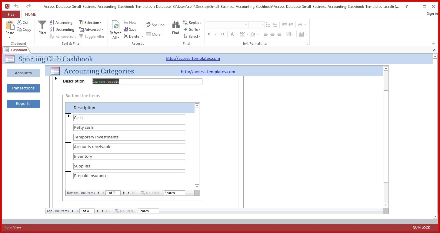 Free Access Database Templates For Small Business
