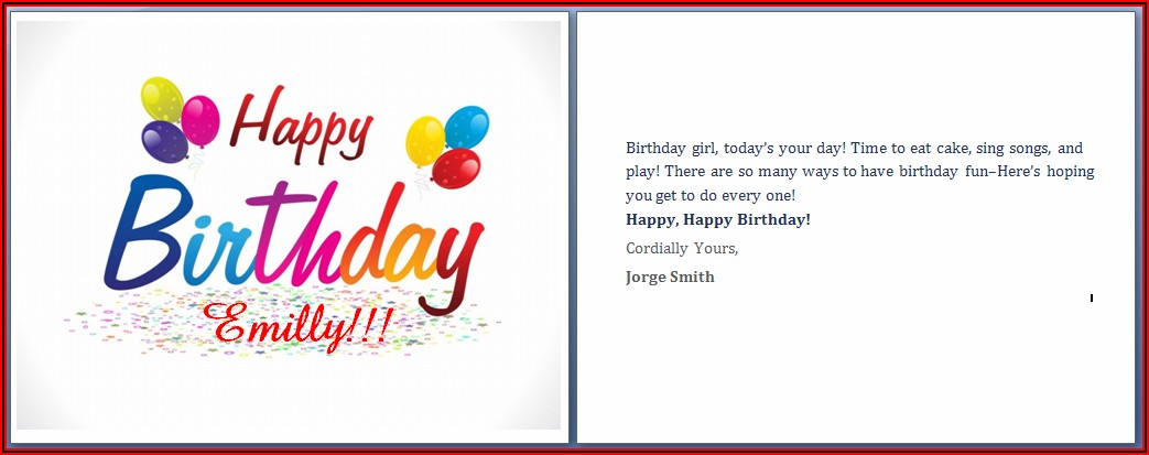 Free Anniversary Card Template For Microsoft Word