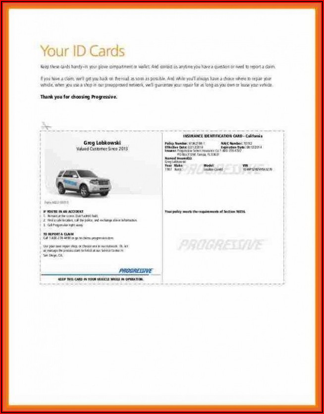 Free Auto Insurance Id Card Template