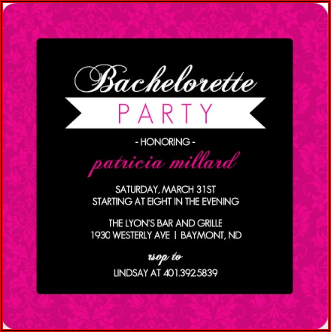 Free Bachelorette Party Invitation Templates Word
