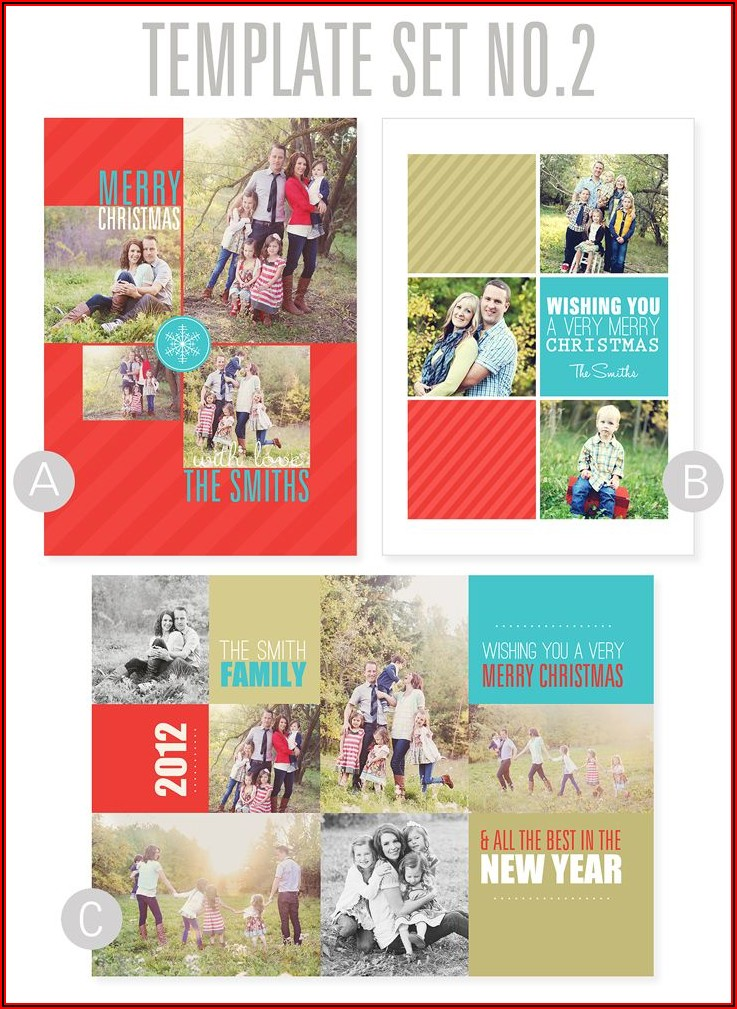 Free Christmas Card Photo Collage Template