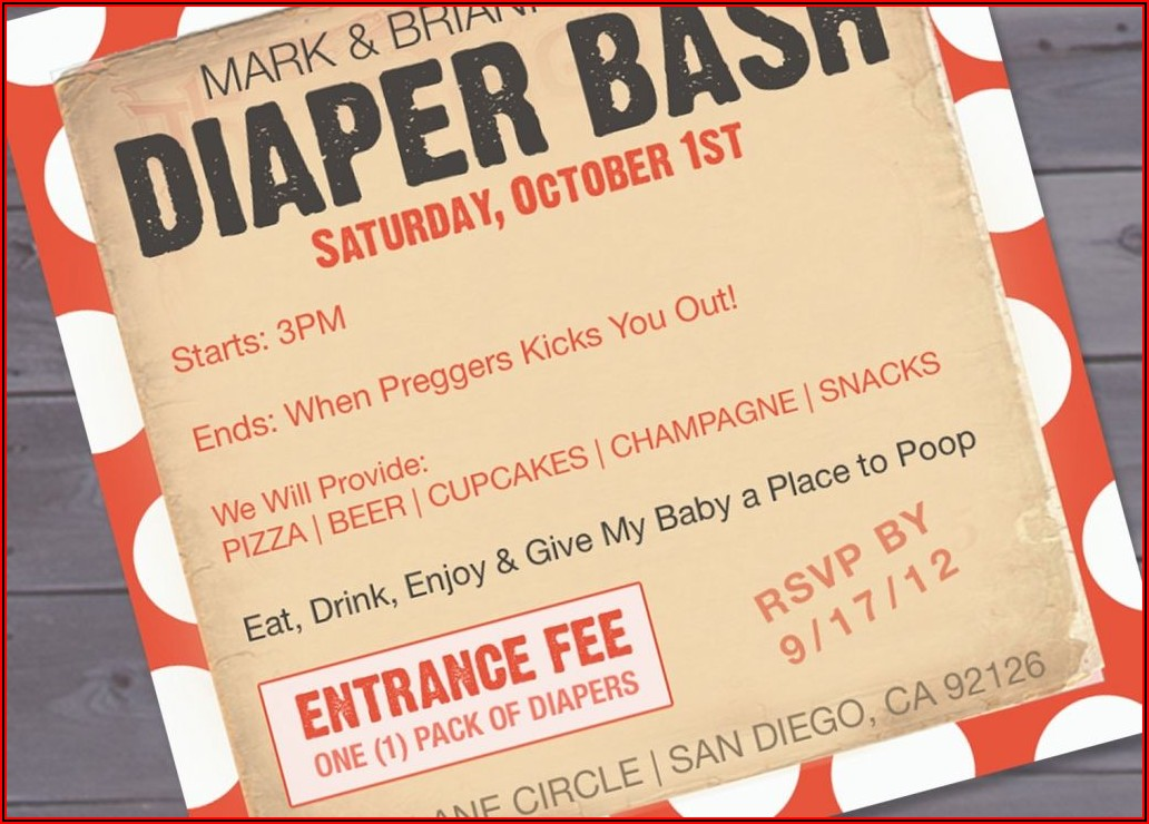 Free Diaper Party Invitations Templates Pdf