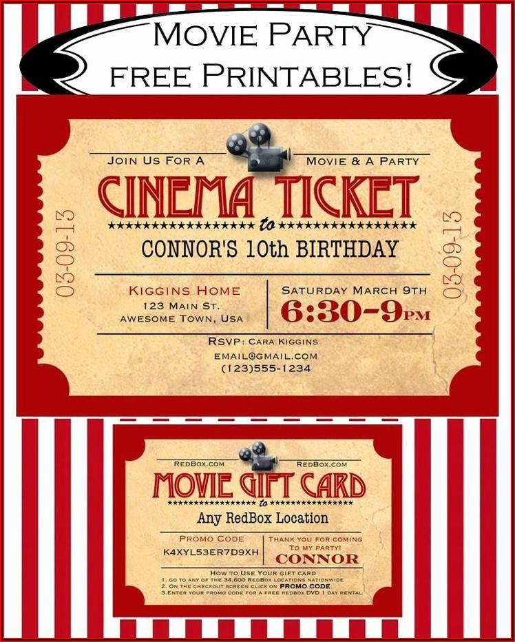 Free Movie Ticket Template Download