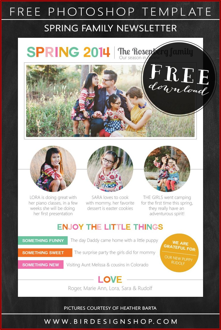 Free Online Christmas Newsletter Templates