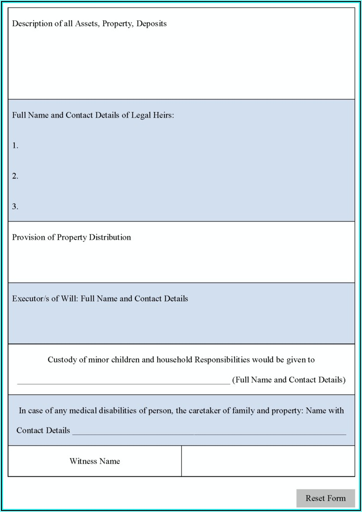 Free Printable Temporary Guardianship Forms Texas