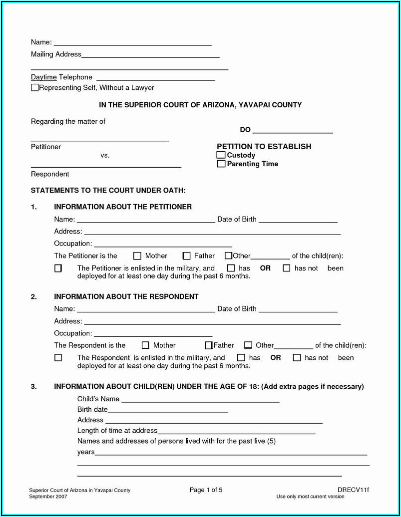 Free Printable Temporary Guardianship Forms