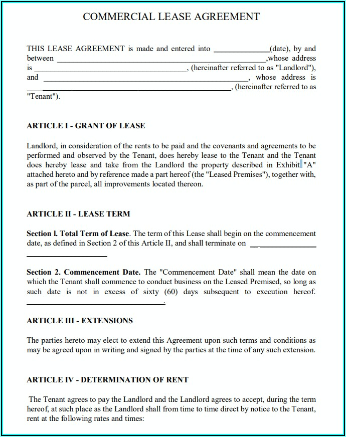 Free Rental Lease Agreement Form Pdf
