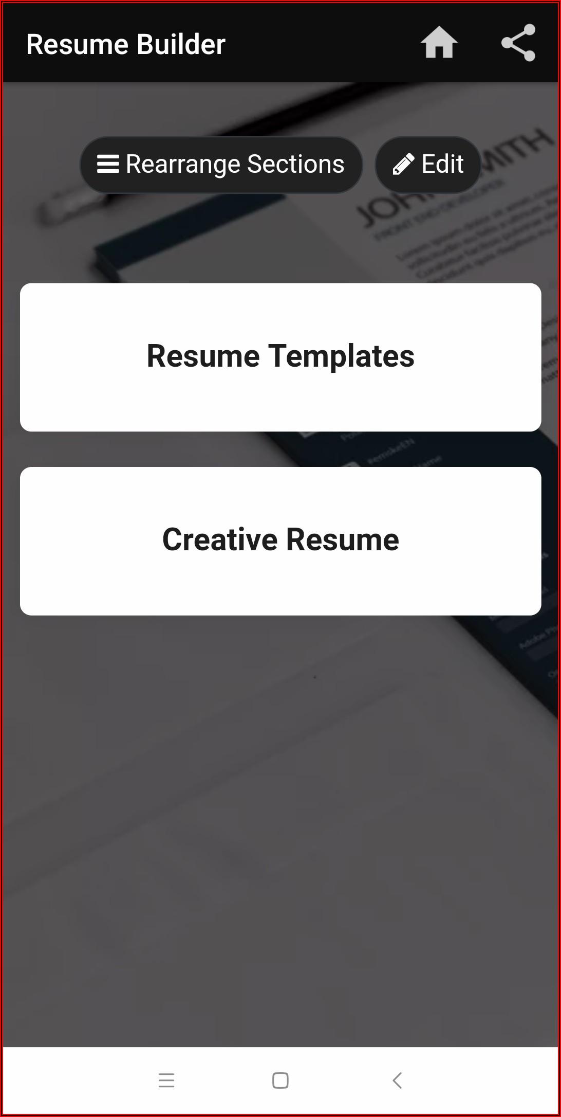 Free Resume Builder Cv Maker Templates Formats App