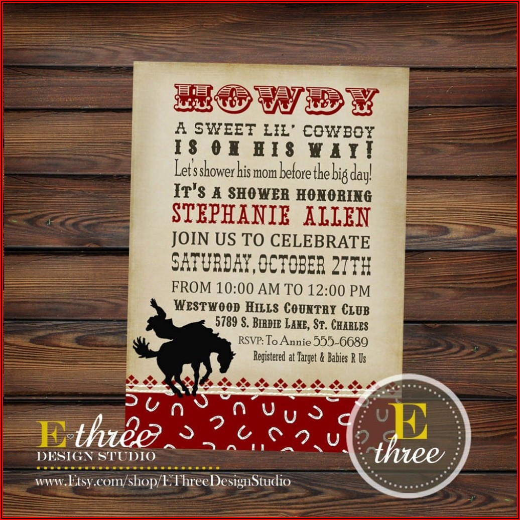 Free Western Wedding Invitation Templates