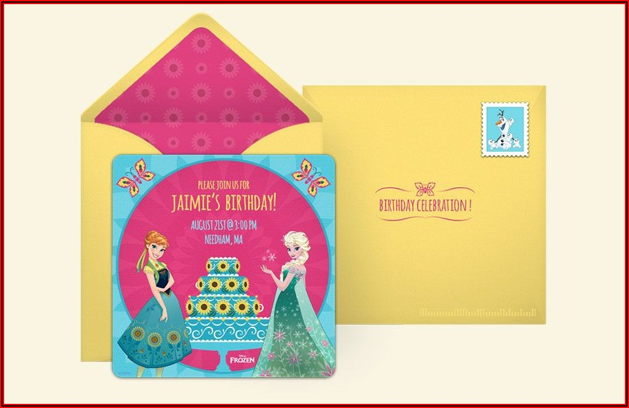 Frozen Birthday Invite Template Free