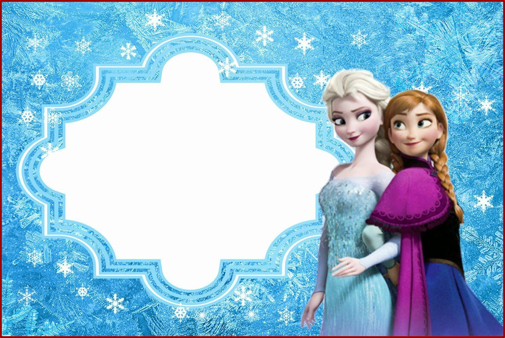 Frozen Birthday Party Invitation Template Free