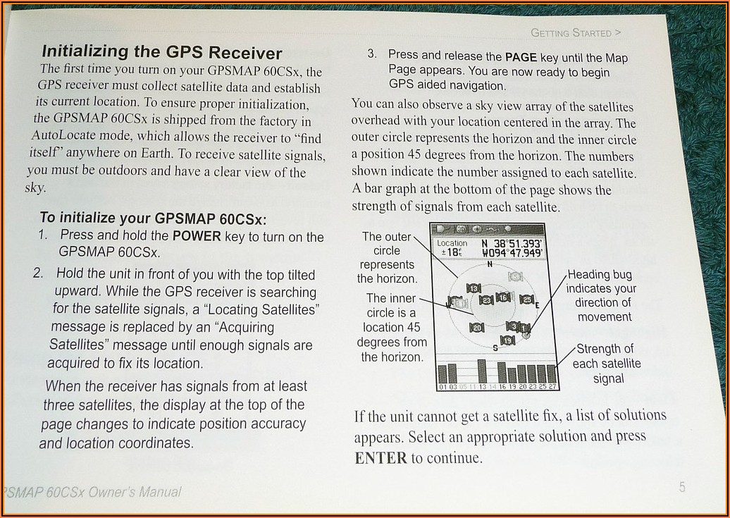 Garmin Gpsmap 60csx Manual