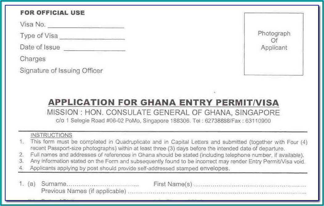 Ghana Passport Renewal Forms Pdf