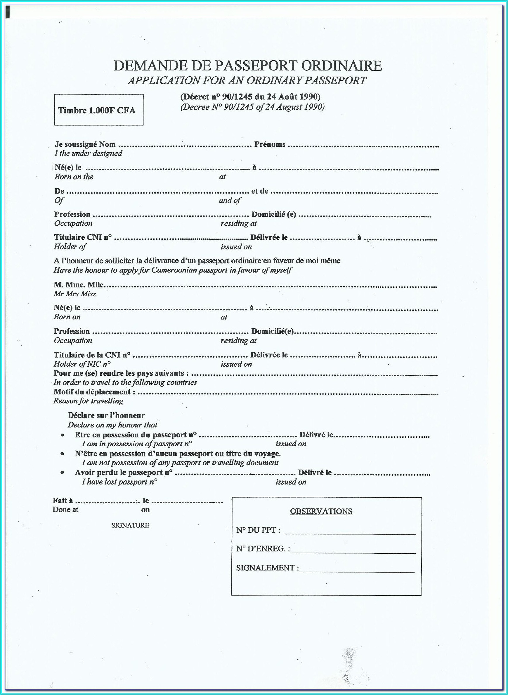Ghanaian Passport Renewal Forms