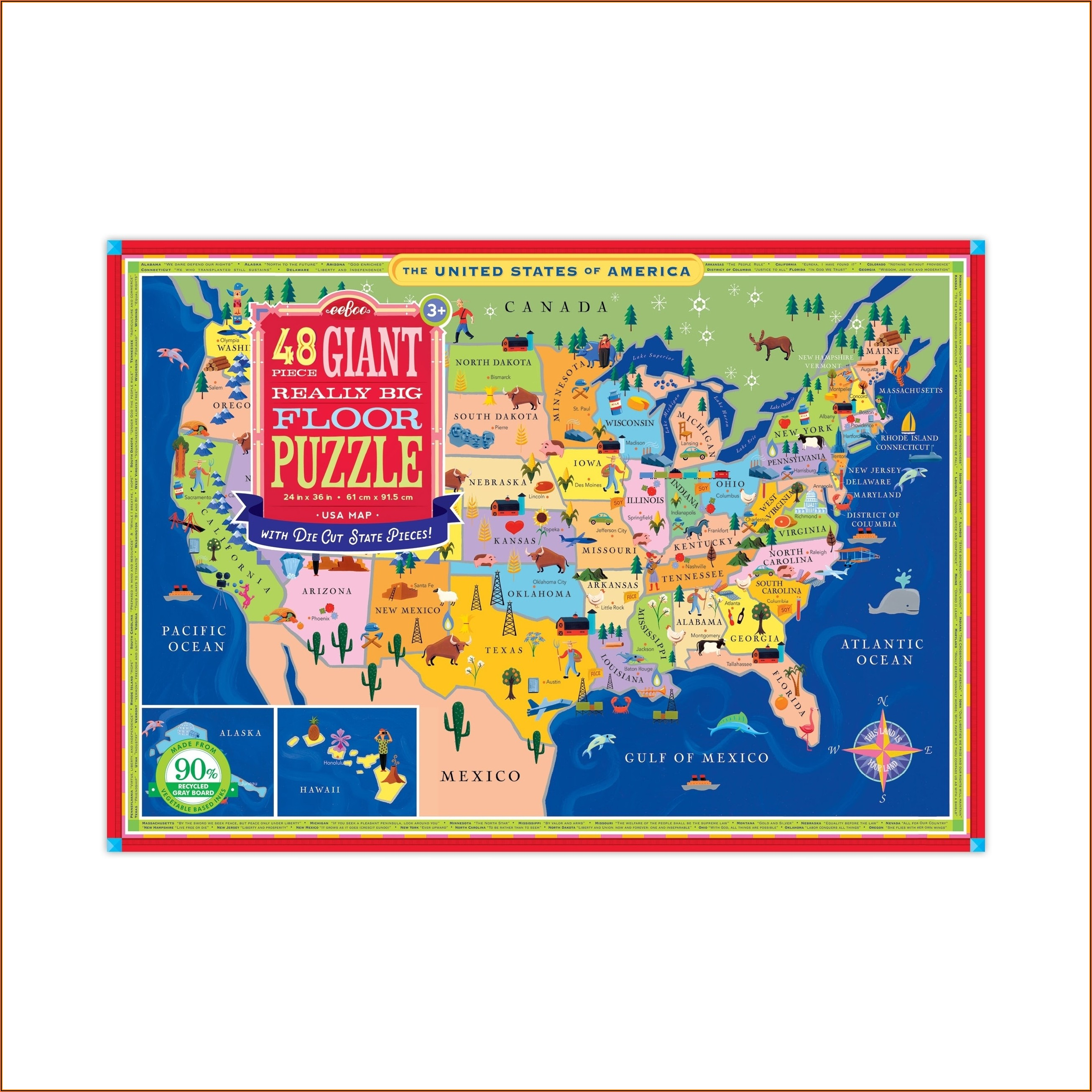 Giant Usa Map Floor Puzzle