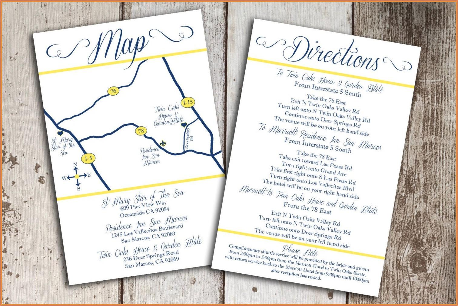 Google Map Wedding Invitation