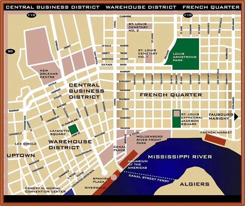 Google Maps New Orleans French Quarter Hotels
