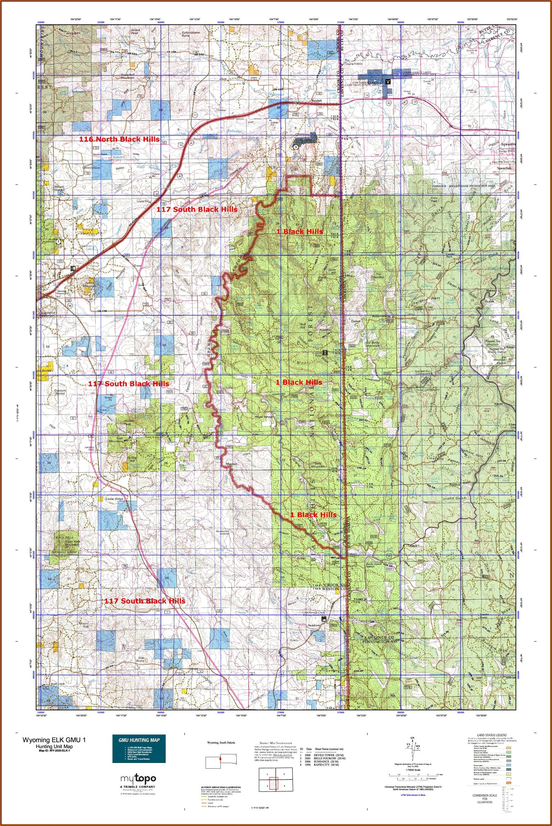 Gps Land Ownership Maps Wyoming