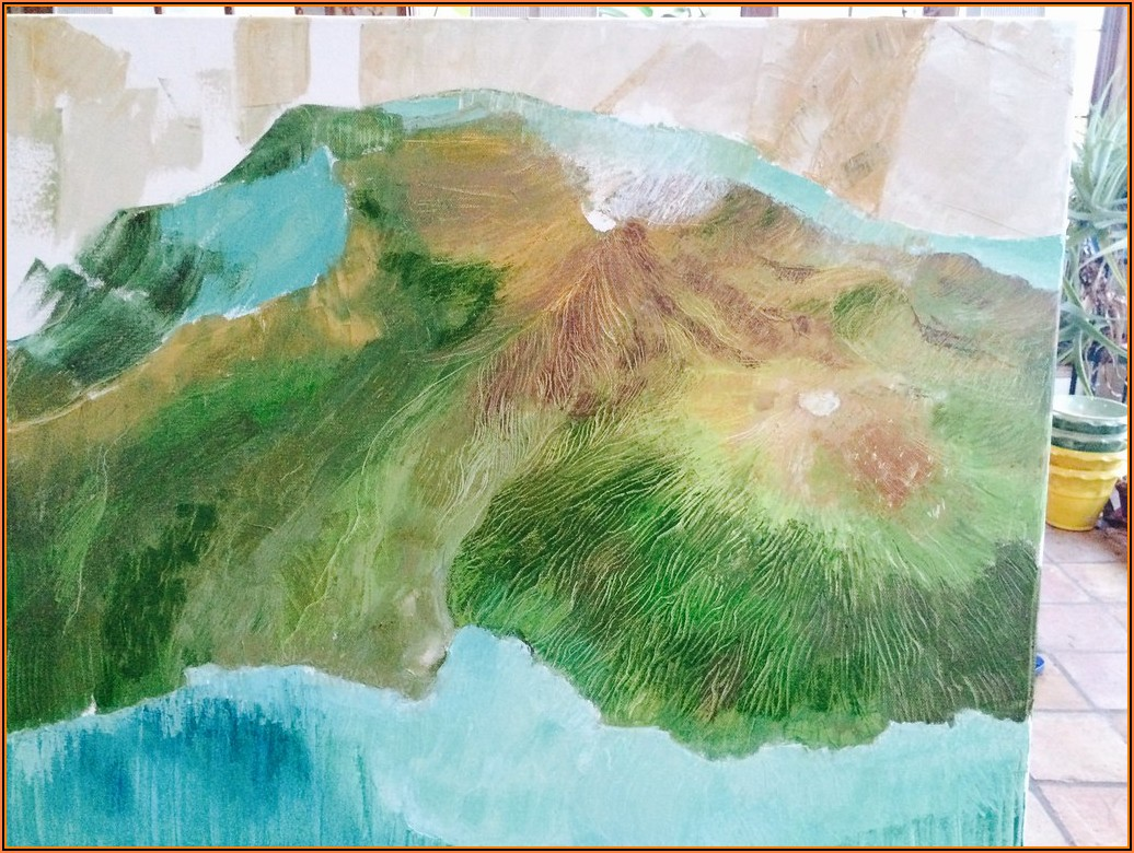 Hawaii Island Relief Map