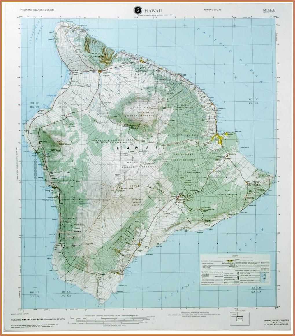 Hawaii Raised Relief Map