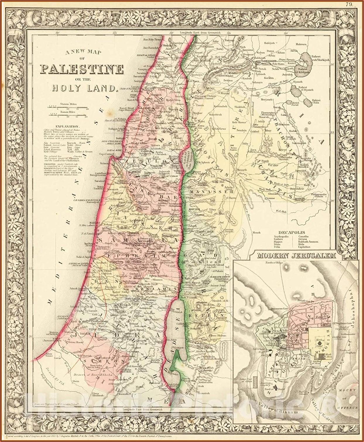 Historic Map Of Palestine